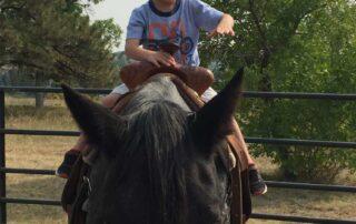 Young Boy riding a horse